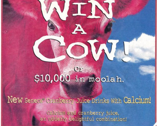 "Seneca ""Win a Cow"" Sweepstakes and coupon"