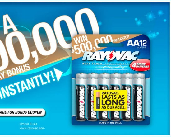 Rayovac Instant Win Sweepstakes
